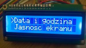 Radiobudzik - menu