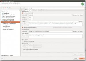 Eclipse-STM32 Debugger configuration