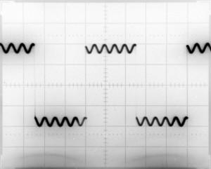 Generator przebiegów arbitralnych - przebieg prostokąt 100Hz + sinus 1kHz