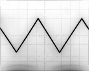 Generator przebiegów arbitralnych - przebieg trójkąt 1kHz